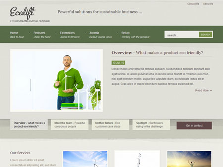 JoomlaBamboo JB Ecolift Joomla 2.5 Template