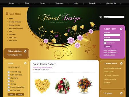 Tm 21080 — шаблон для магазина цветов