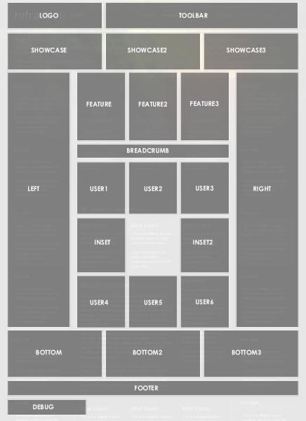 Цветовые схемы шаблона :