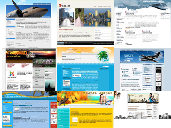9 бесплатных шаблонов joomla (туризм)